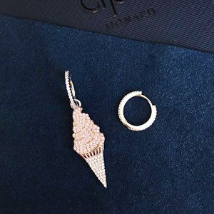 Apm Monaco Diamond Ice Cream Earrings